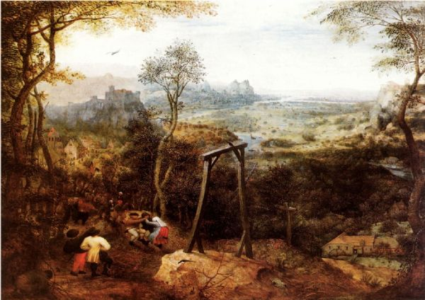 Bruegel the Elder, Pieter: The Magpie on the Gallows. Fine Art Print/Poster. Sizes: A4/A3/A2/A1 (00868)